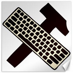 Hammer And Keyboard  Canvas 12  X 12  (unframed) by youshidesign
