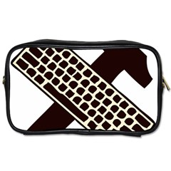 Hammer And Keyboard  Travel Toiletry Bag (two Sides) by youshidesign