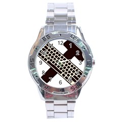 Hammer And Keyboard  Stainless Steel Watch (men s) by youshidesign