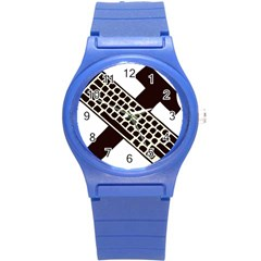 Hammer And Keyboard  Plastic Sport Watch (small) by youshidesign