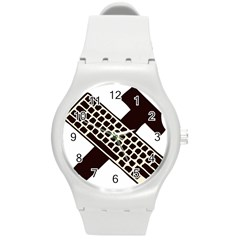 Hammer And Keyboard  Plastic Sport Watch (medium) by youshidesign