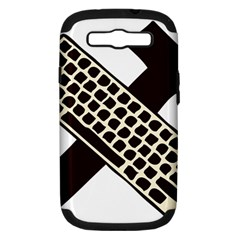 Hammer And Keyboard  Samsung Galaxy S Iii Hardshell Case (pc+silicone) by youshidesign