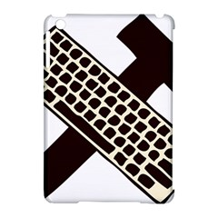 Hammer And Keyboard  Apple Ipad Mini Hardshell Case (compatible With Smart Cover) by youshidesign