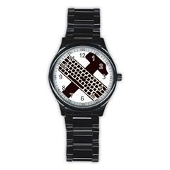 Hammer And Keyboard  Sport Metal Watch (black) by youshidesign