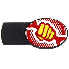Power To The People 2gb Usb Flash Drive (oval) by youshidesign