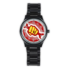 Power To The People Sport Metal Watch (black) by youshidesign