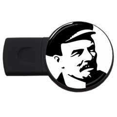 Lenin Portret 2gb Usb Flash Drive (round) by youshidesign