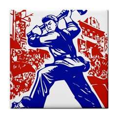 Communist Party Of China Ceramic Tile by youshidesign