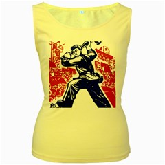 Communist Party Of China Womens  Tank Top (yellow)