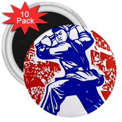 Communist Party Of China 3  Button Magnet (10 Pack) by youshidesign