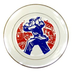 Communist Party Of China Porcelain Display Plate by youshidesign