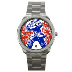 Communist Party Of China Sport Metal Watch by youshidesign