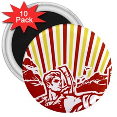 Octobe Revolution 3  Button Magnet (10 Pack) by youshidesign