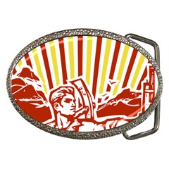 Octobe Revolution Belt Buckle (oval) by youshidesign