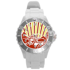 Octobe Revolution Plastic Sport Watch (large) by youshidesign