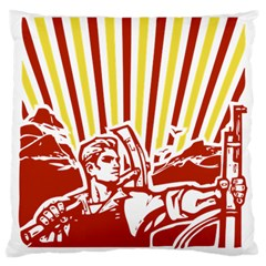 Octobe Revolution Large Cushion Case (single Sided)  by youshidesign