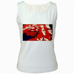 Communist Propaganda He And She  Womens  Tank Top (white) by youshidesign