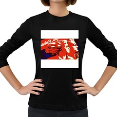 Communist Propaganda He And She  Womens' Long Sleeve T Shirt (dark Colored) by youshidesign