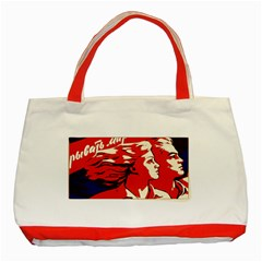 Communist Propaganda He And She  Classic Tote Bag (red)