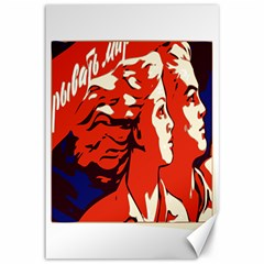 Communist Propaganda He And She  Canvas 12  X 18  (unframed) by youshidesign