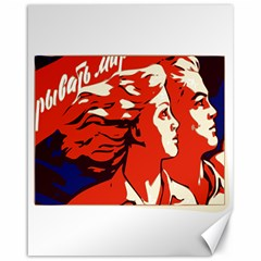 Communist Propaganda He And She  Canvas 16  X 20  (unframed) by youshidesign