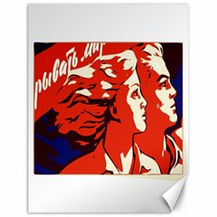 Communist Propaganda He And She  Canvas 18  X 24  (unframed) by youshidesign