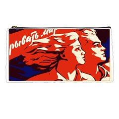 Communist Propaganda He And She  Pencil Case by youshidesign
