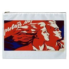 Communist Propaganda He And She  Cosmetic Bag (xxl) by youshidesign