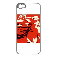 Communist Propaganda He And She  Apple Iphone 5 Case (silver)