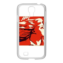 Communist Propaganda He And She  Samsung Galaxy S4 I9500/ I9505 Case (white) by youshidesign