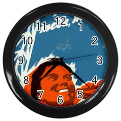 Building Together Wall Clock (black) by youshidesign