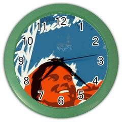 Building Together Wall Clock (color) by youshidesign