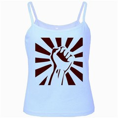 Fist Power Baby Blue Spaghetti Tank by youshidesign