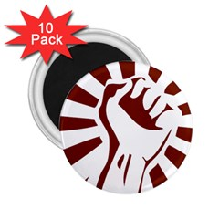 Fist Power 2 25  Button Magnet (10 Pack) by youshidesign
