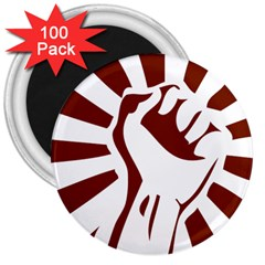 Fist Power 3  Button Magnet (100 Pack)