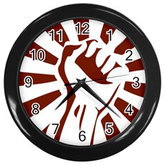Fist Power Wall Clock (black)