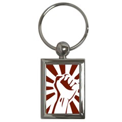 Fist Power Key Chain (rectangle) by youshidesign