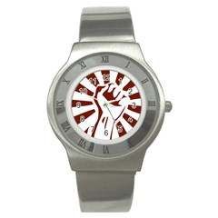 Fist Power Stainless Steel Watch (unisex)