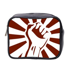 Fist Power Mini Travel Toiletry Bag (two Sides) by youshidesign