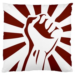 Fist Power Large Cushion Case (two Sided)  by youshidesign