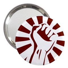 Fist Power 3  Handbag Mirror by youshidesign