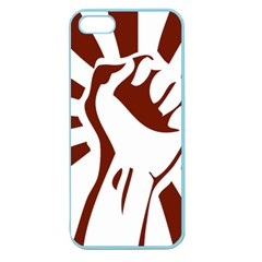 Fist Power Apple Seamless Iphone 5 Case (color) by youshidesign