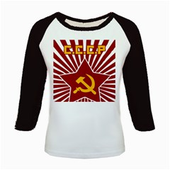 Hammer And Sickle Cccp Kids Baseball Jersey by youshidesign