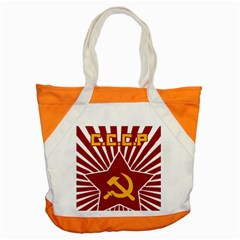 Hammer And Sickle Cccp Accent Tote Bag by youshidesign