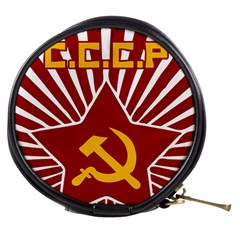 Hammer And Sickle Cccp Mini Makeup Bag by youshidesign