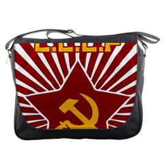Hammer And Sickle Cccp Messenger Bag by youshidesign