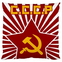 Hammer And Sickle Cccp Large Cushion Case (one Side) by youshidesign
