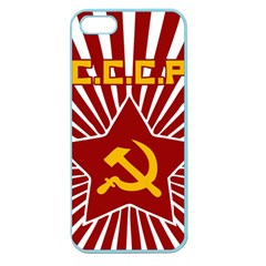 Hammer And Sickle Cccp Apple Seamless Iphone 5 Case (color) by youshidesign