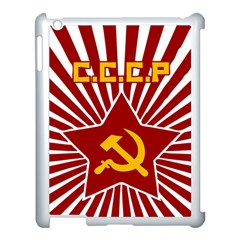 Hammer And Sickle Cccp Apple Ipad 3/4 Case (white) by youshidesign