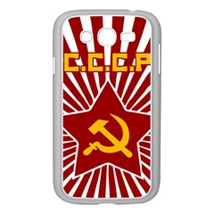 Hammer And Sickle Cccp Samsung Galaxy Grand Duos I9082 Case (white) by youshidesign